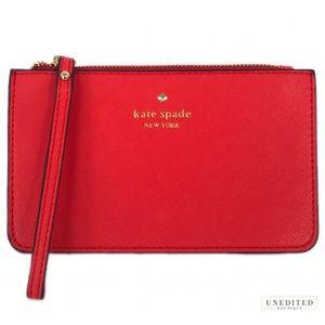 Kate Spade Bright Red Wristlet